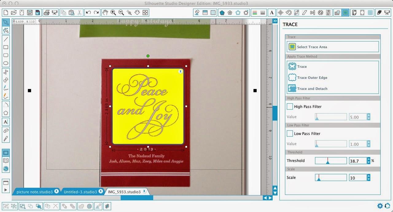 Silhouette Pixscan, Silhoeutte tutorial, Pixscan tutorial, Silhouette Studio, trace