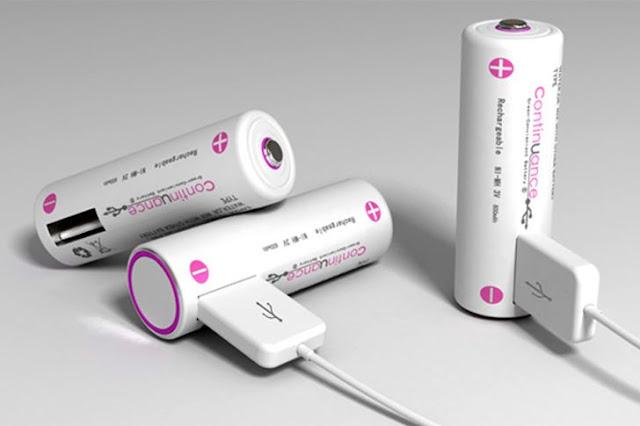 البطاريات بمنفذ USB