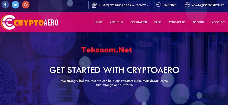 [SCAM] Review CryptoAero [US] - Lãi 12% hằng ngày - Đầu tư tối thiểu 10$ - Thanh toán tức thì