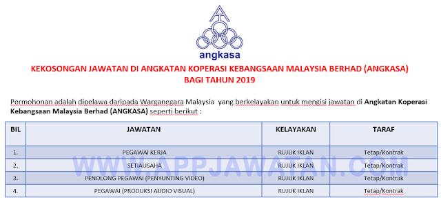 Angkatan Koperasi Kebangsaan Malaysia Berhad (ANGKASA).