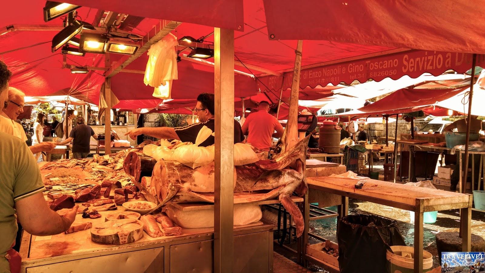 Italie Catane Catania marché