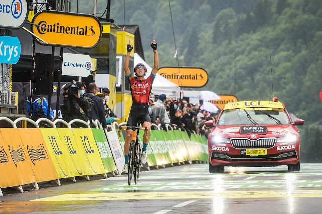 Dylan Teuns volta a vencer uma prova do Tour de France depois de dois anos
