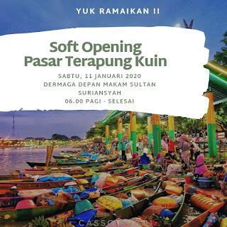 Soft Opening Pasar Terapung Kuin Alalak di resmikan oleh Walikota Banjarmasin