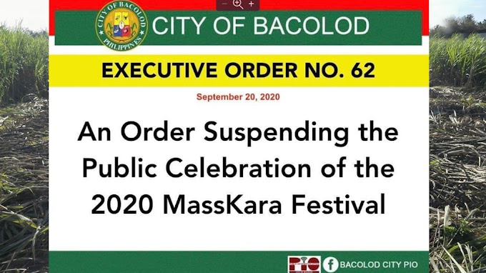 Bacolod's MassKara Festival for 2020 is SUSPENDED