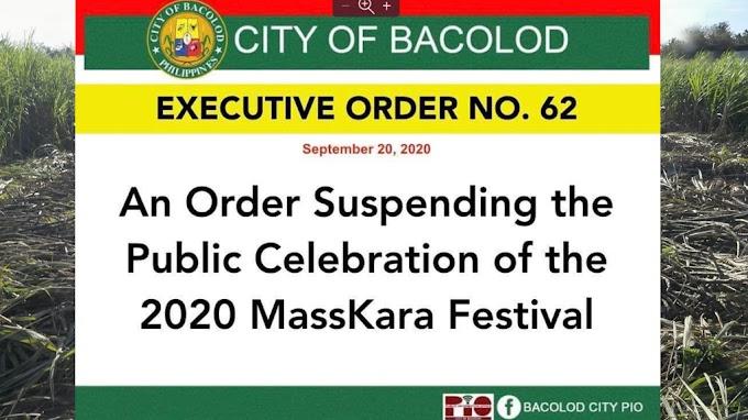 Bacolod's MassKara Festival for 2020 is SUSPENDED