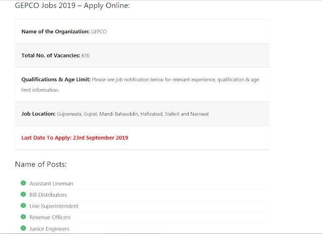 Wapda jobs 19 September2019