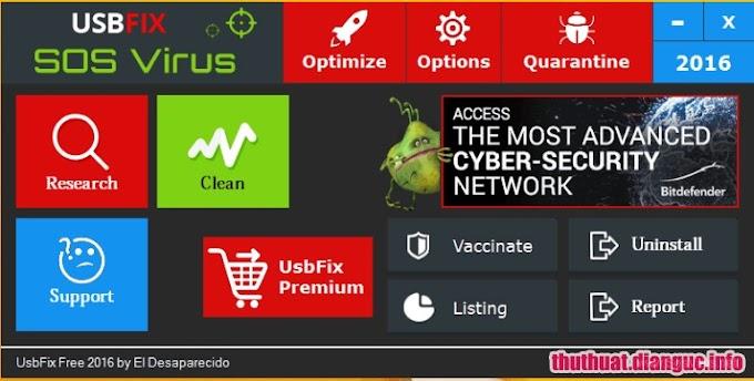 Download UsbFix 11.001 – Phần mềm diệt virus và sửa lỗi USB miễn phí