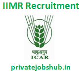 IIMR Recruitment