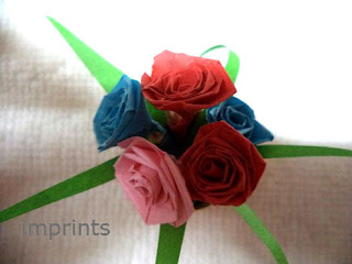 paper quilled flower bunch