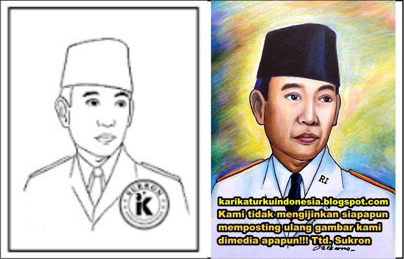 Karikaturku Indonesia Mewarnai Presiden Ir Soekarno