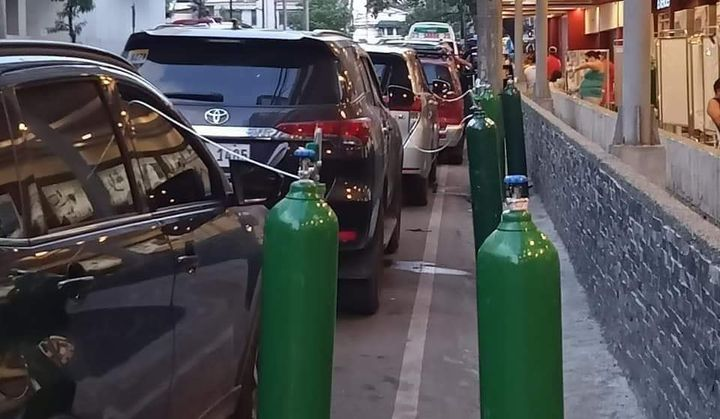 Patients use oxygen tanks in their vehicles