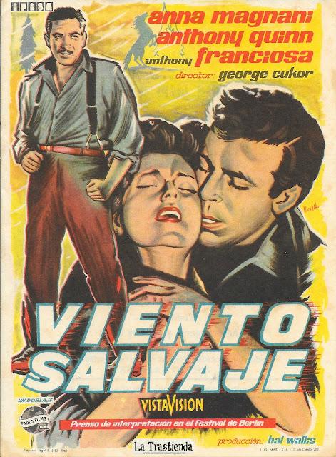 Viento Salvaje - Programa de Cine - Anthony Quinn - Anna Magnani - Tony Franciosa