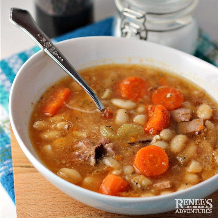 Classic Ham And Bean Soup Renee S Kitchen Adventures