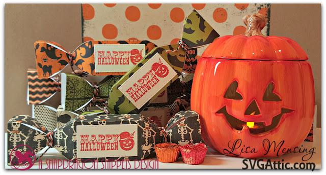 Happy Halloween Truffle Box created In the Crafting Cave with Lisa using SVG Attic Plain Truffle Box Sweet Shop