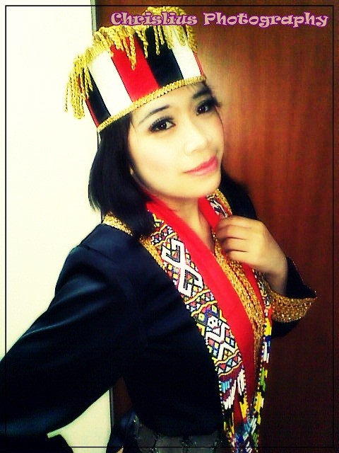 It S All About Us When Bisaya Girl In Bidayuh Costume