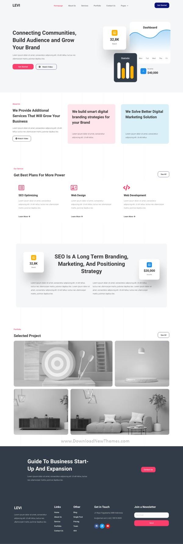 Digital Marketing Elementor Template Kit