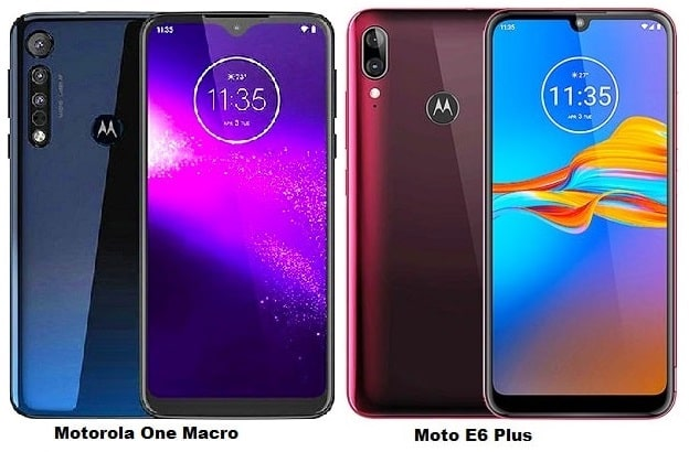 Motorola One Macro Vs Motorola Moto E6 Plus Specs Comparison