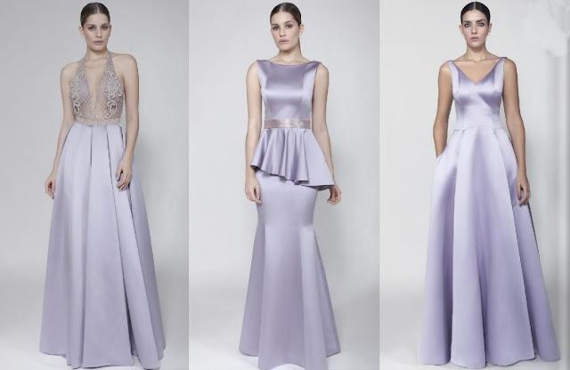 vestido de festa lilás