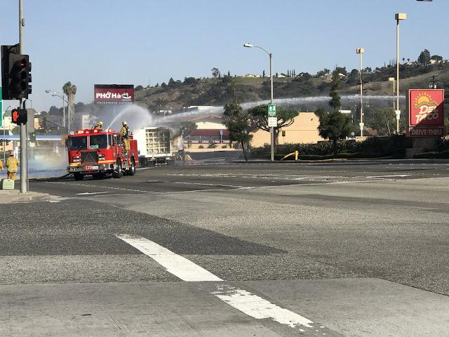 500 жителей округа Лос-Анджелес эвакуировано из-за взрыва фуры с водородом