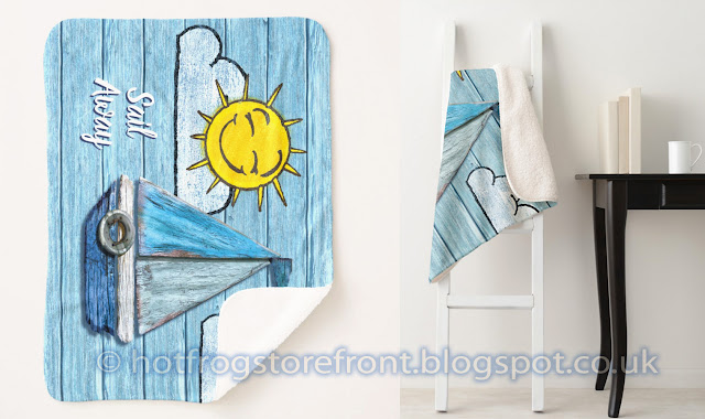 Photograph of towels in Driftwood Beach design