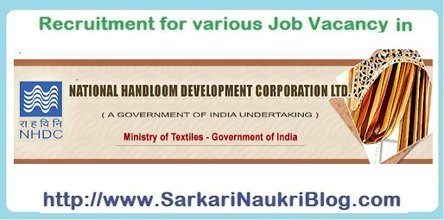 Naukri Vacancy Recruitment National Handloom Development Corporation