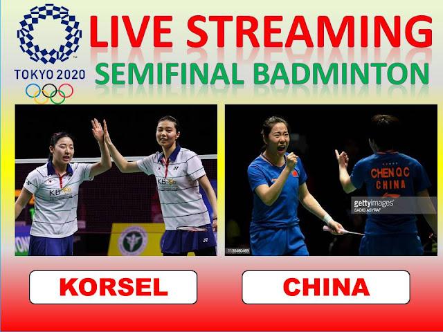 Ayo Nonton Live Streaming Olimpiade Semifinal Badminton Ganda Putri : H. Kong/S. Kim Vs Y.F. Jia/Q.C. Chen Jam 09.30 WIB