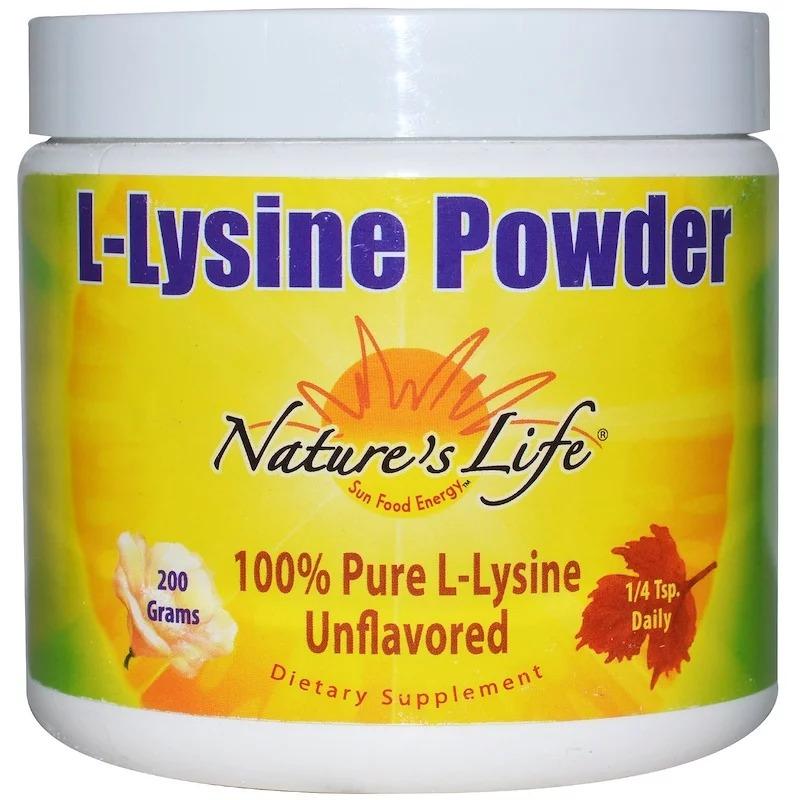 Nature's Life, L-Лизин в порошке, без вкуса, 200 г