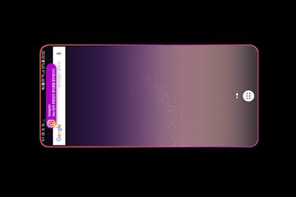 تطبيق انارة حواف الشاشه عند وصول الاشعارات