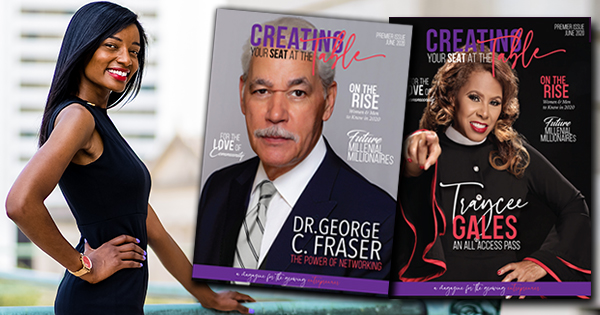 Ashley Little, founder and Editor-In-Chief of Creating Your Seat At The Table International Magazine