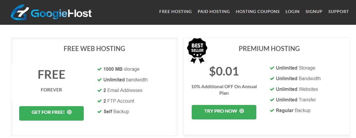 استضافة مجانية تدعم html