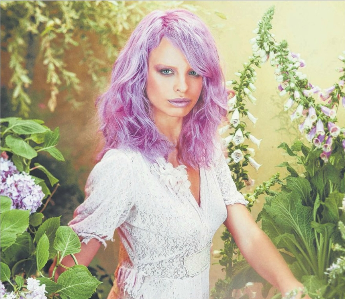 ROSE REVIVAL: One of Aveda's key looks for this spring/summer season takes inspiration from pink hues found inflowers. The colour-waving technique used in the look adds dimension.