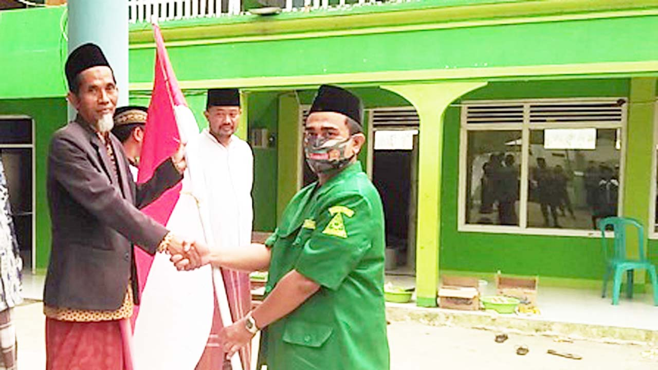 Menyambut HUT RI Ke-75 PAC GP Ansor Ketanggungan Gelar Kirab Merah Putih Ke Pesantren