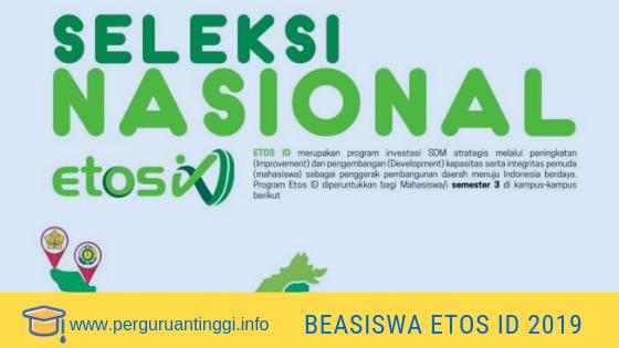 informasi beasiswa etos 2019