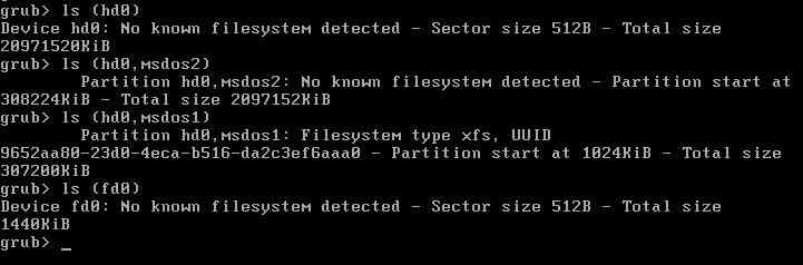 How to rebuild the GRUB configuration file in RHEL7 - LINUX