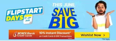 Flipkart Sale Today Offer - Get Up To 80% Discount From 1 June To 3 June