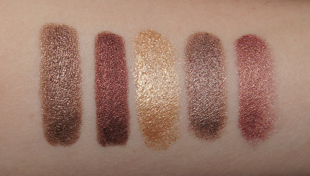 swatches marc jacobs twinkle pop charlotte tilbury colour chameleon maybelline color tattoo laura mercier metallic creme eye colour