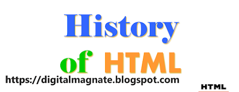 History of HTML. Here the list of All versions of HTML