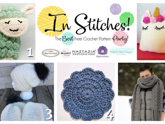 In Stitches - Best Free Crochet Patterns Link Up Party Week 5