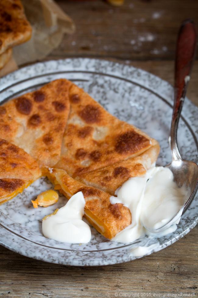 placindy z dynią rustykalne mołdawskie ciastka smażone