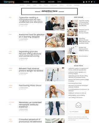 Gampang Premium Blogger Template