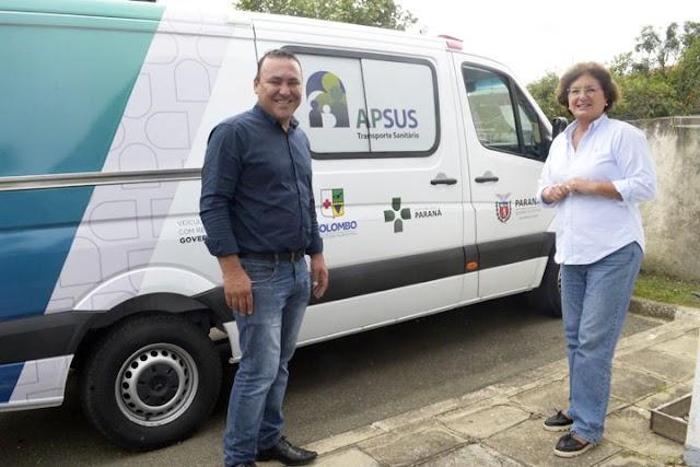 Colombo ganha nova ambulância para ajudar nos atendimentos no municipio