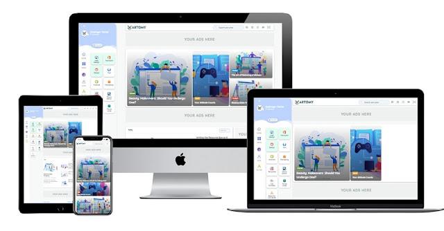 Hartomy-Grid_Style Premium Theme Free Download