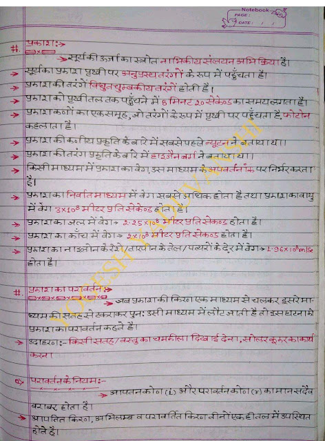 Physics Handwritten Notes : For All Competitive Exam Hindi PDF Book