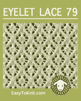 #Knit Maple Leaves stitch, Easy Eyelet Lace Pattern #easytoknit #knitlace