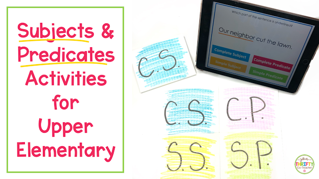Looking for engaging ways to teach parts of a sentence? These fun subject and predicate activities will have your students engaged from the start.