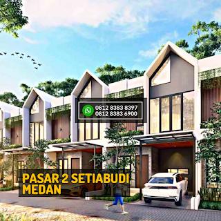 Tampak Depan 2 Rumah Cantik Mewah Berkualitas di Pasar 2 Setiabudi Ringroad Medan - Twin Luxury