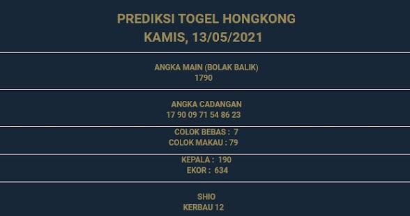 3 - PREDIKSI HONGKONG 13 MEI 2021