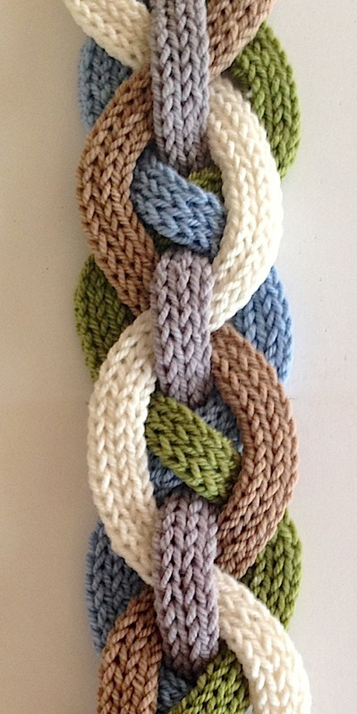 Iquitos Flat i-Cord Scarf - Knitting Pattern