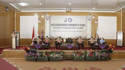 Wakil Ketua Majlis Pembimbing Cabang Hadir Dalam Muscab Ke V Gerakan Pramuka Way Kanan