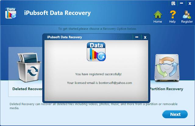Screenshot iPubsoft Data Recovery 2.1.7 Full Version